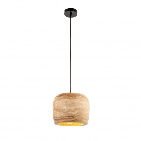 Endon 68997 Lucy Contemporary Wood Dimmable Pendant, IP20