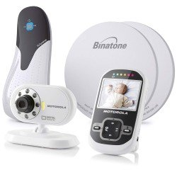 Motorola MBP26 Digital Video Monitor Babysense Bundle - White/Black