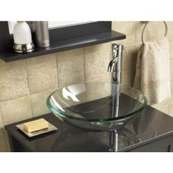 NECHT Bathroom Cloakroom Countertop Clear Glass Basin Sink Bowl