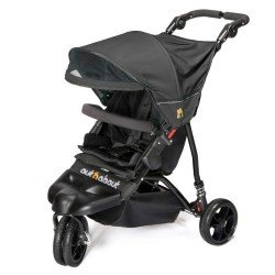 Out N About Little Nipper Single Pushchair Buggy - Jet Black