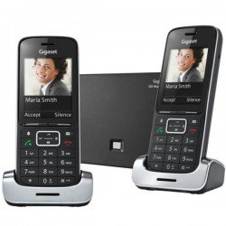 Siemens Gigaset SL450 A DUO GO - Black Edition Twin Pack, Colour Screen, VoIP, Answerphone, Bluetooth