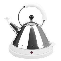 Alessi Michael Graves Stainless Steel Electric Kettle (MG32W-UK)