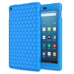 MoKo Case for Amazon Fire HD 8 2017/2018 Tablet [Kids Friendly], Blue