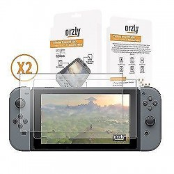 Orzly Premium Tempered Glass Screen Protector for Nintendo Switch - Twin Pack