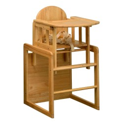East Coast Wooden Combination High Chair Table + Insert Cushion