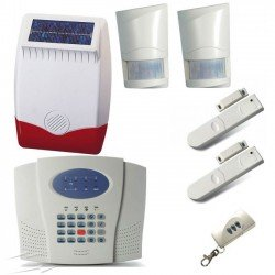 LuxHome 6 Zone Wireless Alarm Kit 2 PIRs, 1 Panel, 1 Siren, 2 Door Detectors, 1 Remote