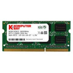 Komputerbay 8GB DDR3 PC3-12800 1600MHz SODIMM 204-Pin Laptop Memory 10-10-10-27 1.5V