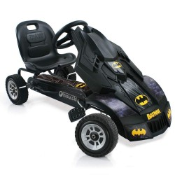 Hauck T-90230 DC Comics Batman Batmobile Pedal Go Kart, Adjustable Seat, Rubber Tyres