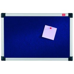 Nobo Classic Blue Felt Aluminium Framed Notice Pin Board 900 x 1200cm (36x48in)