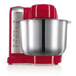 Bosch MUM48R1GB Kitchen Machine, 600 W, 3.9 L - Red/Silver