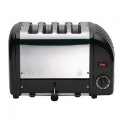 Dualit Classic 4 Slot Vario Toaster 40344 - Black/Chrome