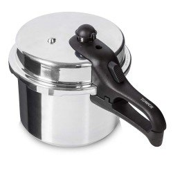 Tower T80210 High Top Aluminium Pressure Cooker, 5.5 Litre, Silver
