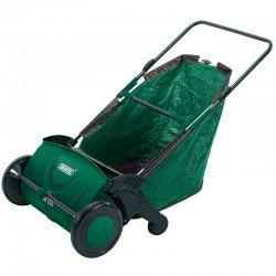 Draper 21in Manual Push Rolling Garden Leaf Sweeper Collector Lawn Machine
