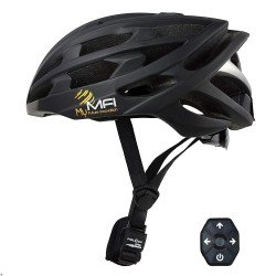 MFI Unisex Lumex Pro Carbon Fibre Smart Cycle Helmet - Medium 55-58cm