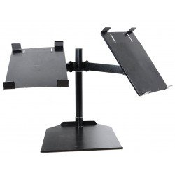 Novopro CDJ Dual+ Table Stand With Twin Arm (Black) - Damaged
