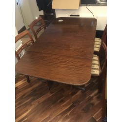 Regency Style Mahogany Drop Leaf Table & 4 Chairs