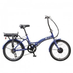 eLife Regency Electric Bike - Blue, 6 Speed PedElec Assist