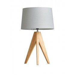 Thea Wooden Tripod Table Lamp - Natural