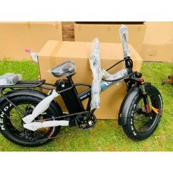 Folding Fat Tyre Electric Bike 36V 10AH Lithium Battery 350w
