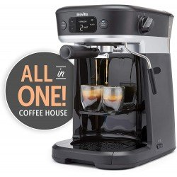 Breville All-in-One Coffee House, Espresso, Filter and Pods Coffee Machine with Milk Frother, Dolce Gusto Compatible