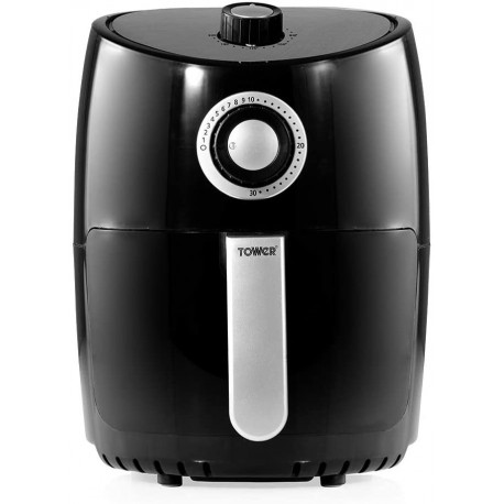Tower Air Fryer with Rapid Air Circulation System, 1000 W, 2.2 Litre, Black