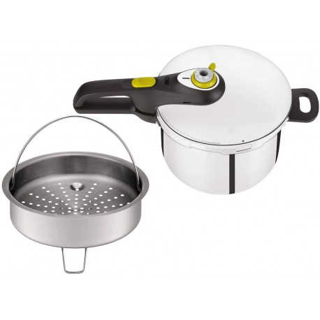 Tefal Secure 5 Neo Stainless Steel Pressure Cooker, 6 L, Induction