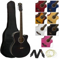 Tiger 4/4 Electro Acoustic Guitar - Black