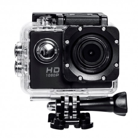 """GoPlus 12MP Full HD 1080p Wi-Fi Waterproof 30m Action Cam 2"""" LCD + Remote View"""