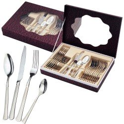 Waltmann Und Sohn - Crafted Stainless Steel Cutlery Set - 24 pcs in Gift Box