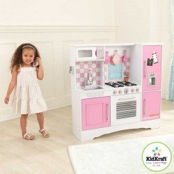KIDKRAFT CULINARY KITCHEN - Large Wooden Play Kitchen in Pastel (3+ Years)