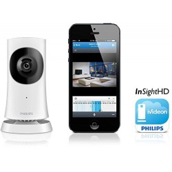 Philips M120 In.Sight Wide Angle HD Wi-Fi Home Security Monitor with iVideon ??