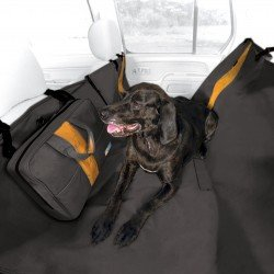 KURGO WANDER WATERPROOF CAR REAR SEAT PET HAMMOCK WITH TRAVEL CASE - BLACK