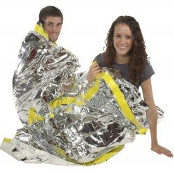 Emergency Thermal Space Foil Sleeping Bag - Reusable, Lightweight, Packable