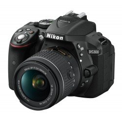 Nikon D5300 DSLR - 24.2 MP, AF-P 18-55VR Lens Kit, 3-Inch LCD Screen