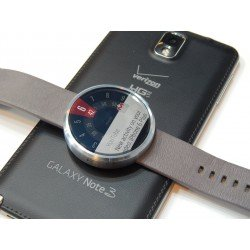 Motorola Moto 360 Smart Watch 1st Gen for Android & iOS - Grey Leather Strap