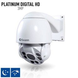 Swann NHD-817 Full HD 1080p 3MP PTZ Outdoor IP Security Camera, White
