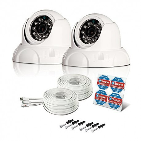 Swann PRO-736 PK2 700 TVL Day & Night Outdoor Dome Camera 2 Pack