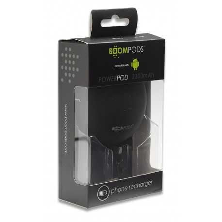 Boompods Powerpod Portable Phone Charger For Android Devices - Black