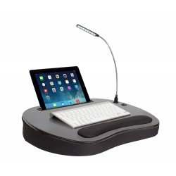 Sofia & sam Memory Foam Lap Desk - USB Light, Ipad & iPhone Holder, Mouse Deck