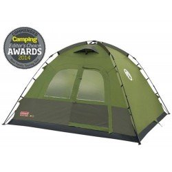 Coleman Instant Dome 5 Person Family Tent - Easy Fast 60 Sec. Pitch Time