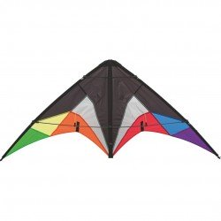 High Power 2 Line Stunt Kite Large 1.2m, 4ft Delta Wing - Multi-Colour - Age 6+