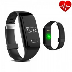 Apachie H3 Activity Band With Heart Rate Monitor For iOS/Android - Black