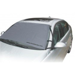 DELK FROST BLOCKER WINDSCREEN ICE FROST COVER + FREE WING MIRROR COVERS