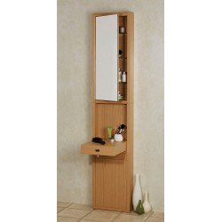 Croydex Unfold 'N' Fit Tall Wood Vanity Unit Light Oak - Perfect For Small Spaces