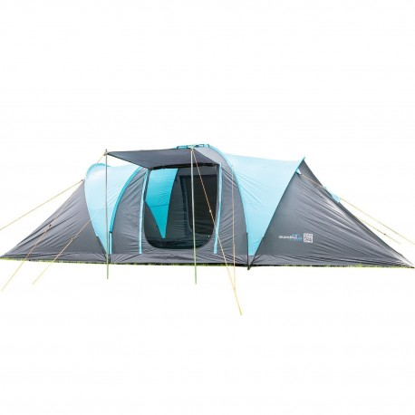 SKANDIKA HAMMERFEST 4 Person Tent with Groundsheet, 2 Sleeping Pods, 2 Sun Canopy Porch