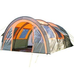 SKANDIKA KEMI 4 Person Tunnel Tent Olive/Orange RRP £229