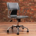 Dorado Gas Lift Adjustable Office Chair in Black with Accent Stitching