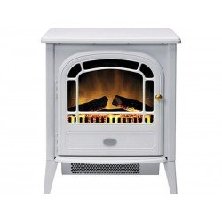 Dimplex Courchevel CVL20N Log Effect Electric Stove With Remote Control - White