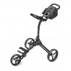 BagBoy C3 Ultra Compact Quick Fold Golf Trolley Push Cart, Black/Red RRP £179