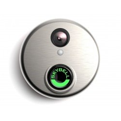 SkyBell Wi-Fi Video Doorbell With Motion Sensor Version 2.0 Classic Silver